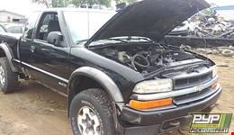 2001 CHEVROLET S10 partes disponibles