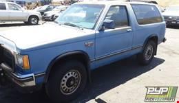 1988 CHEVROLET S10 BLAZER partes disponibles
